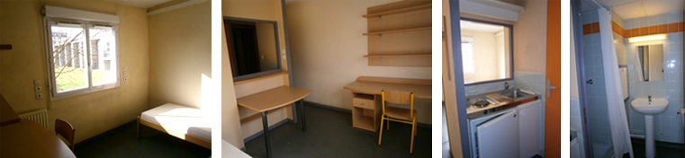 INSA - Photos of a typical student room